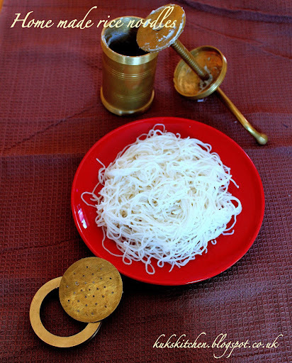 Home made rice noodles  |  Idiappam  |  Kukskitchen