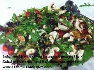 Fargerik Salat med Hvitløks- og Balsamicovinaigrette / Colourful Salad with Garlic- and Balsamicovinaigrette
