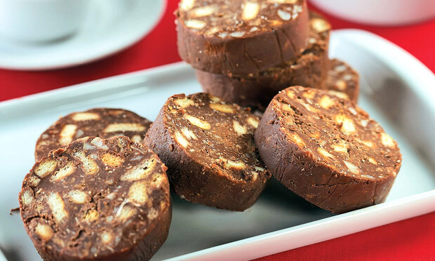 Biscoito crocante de chocolate