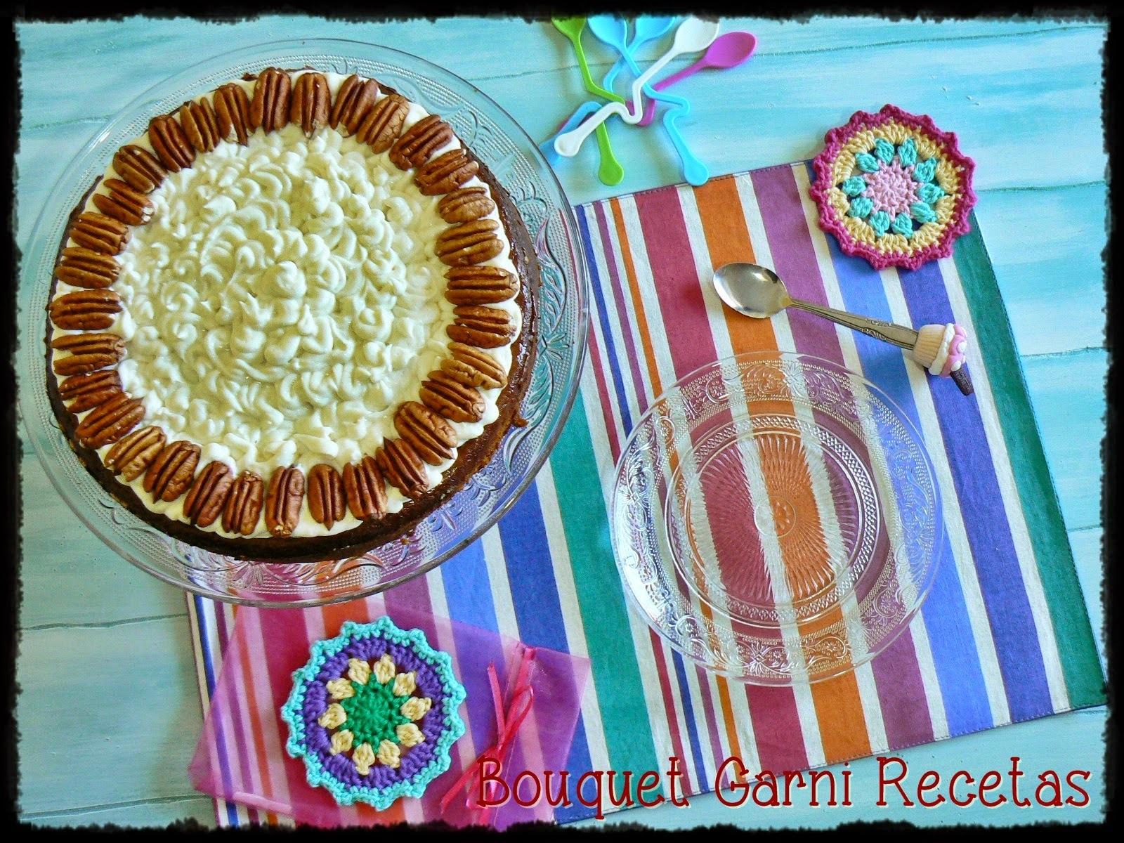 Pudding de calabaza y especias (con cobertura de queso crema americano y nueces Pecan)