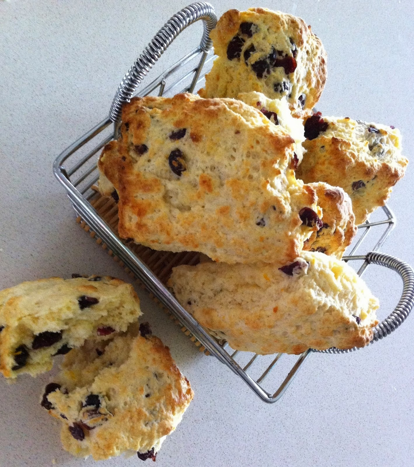 Seriously Good Cheddar, Date/Craisin and Orange Flaky Scones