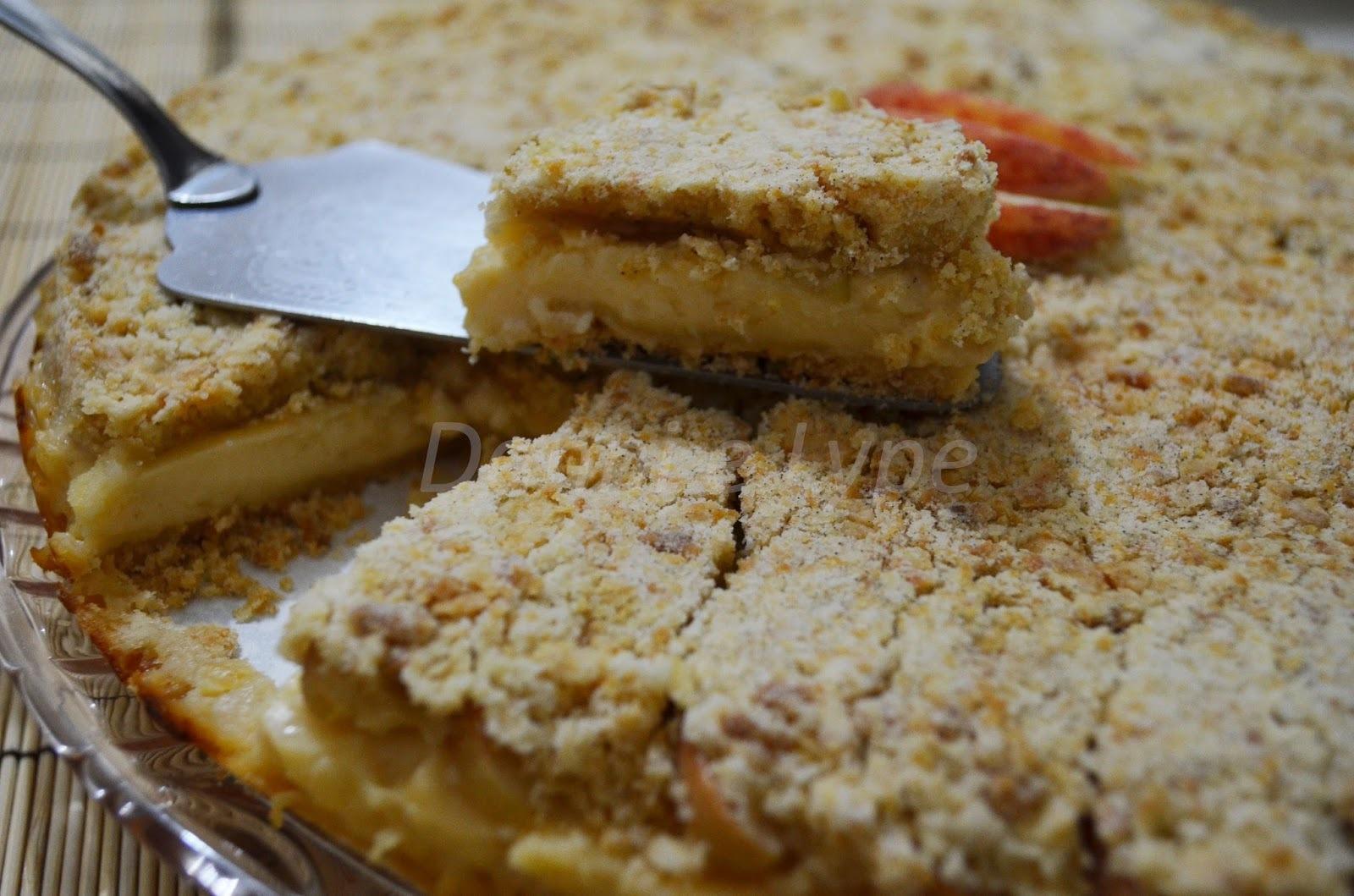 Torta de Farofa com Maçã