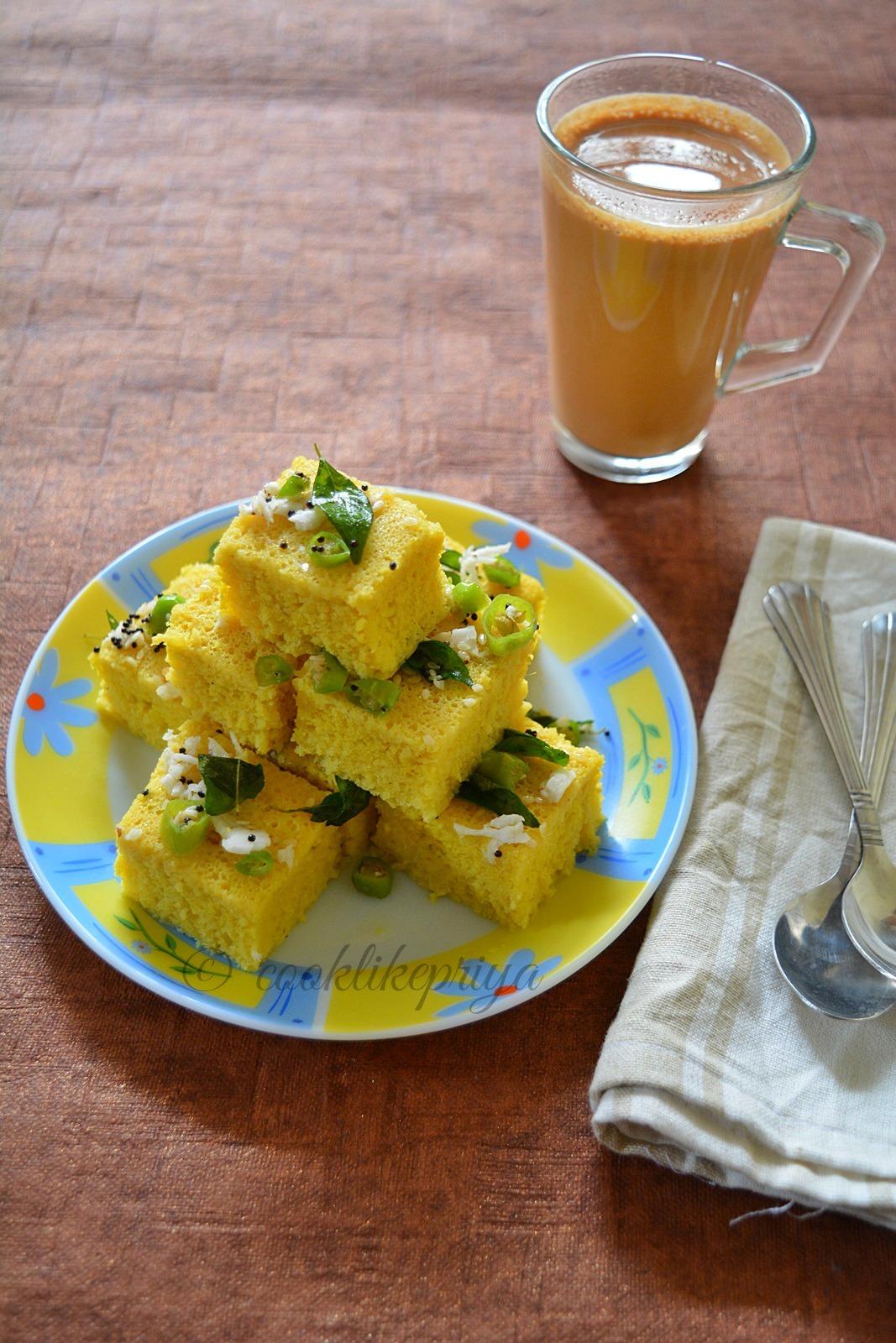 dhokla with sooji