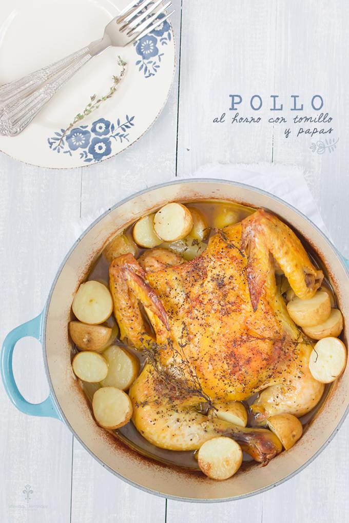 Pollo al horno con tomillo