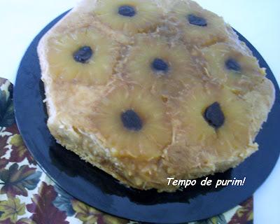 calda de caramelo para bolo invertido de abacaxi