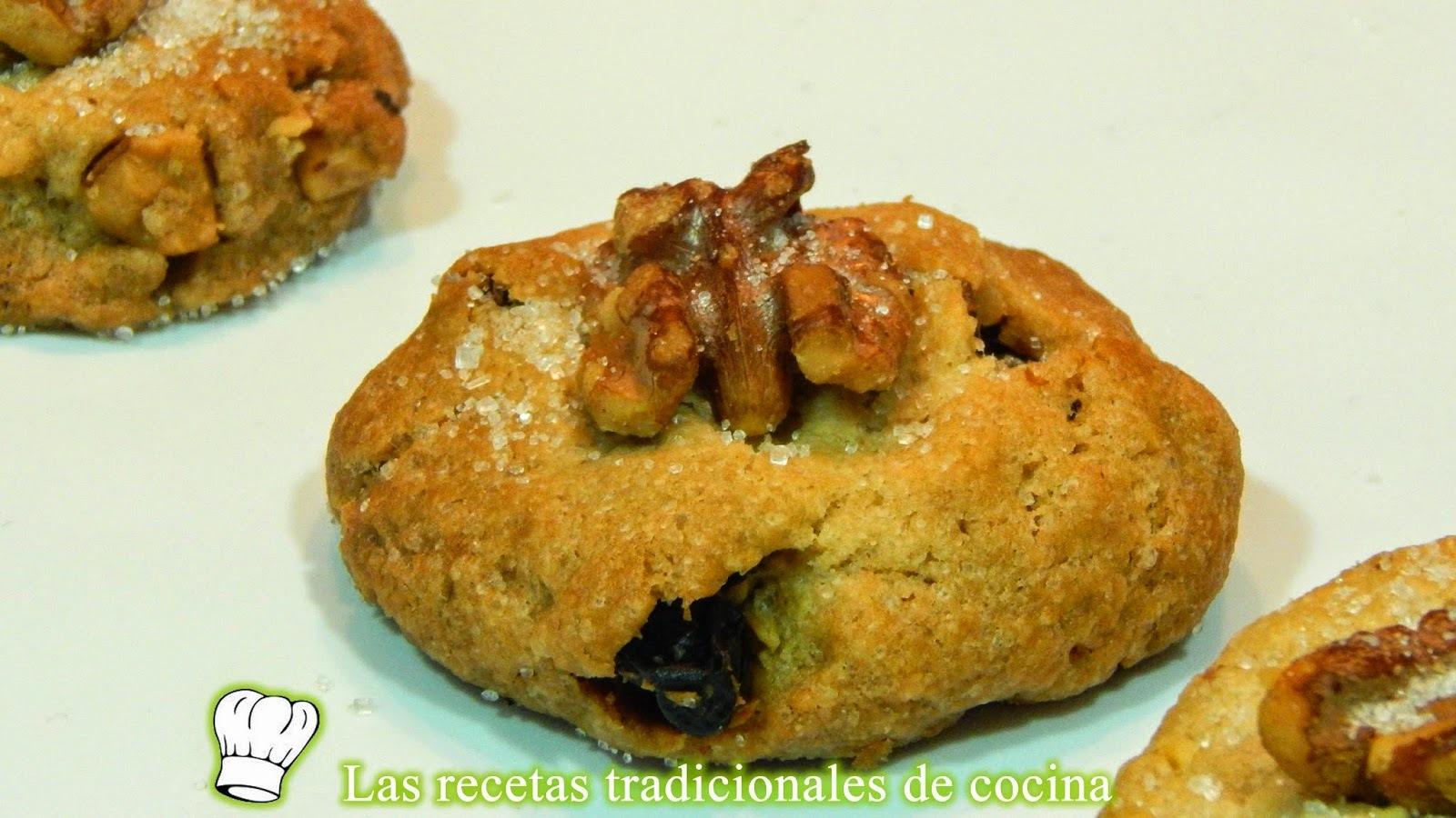 Receta de galletas de anís con nueces y pasas