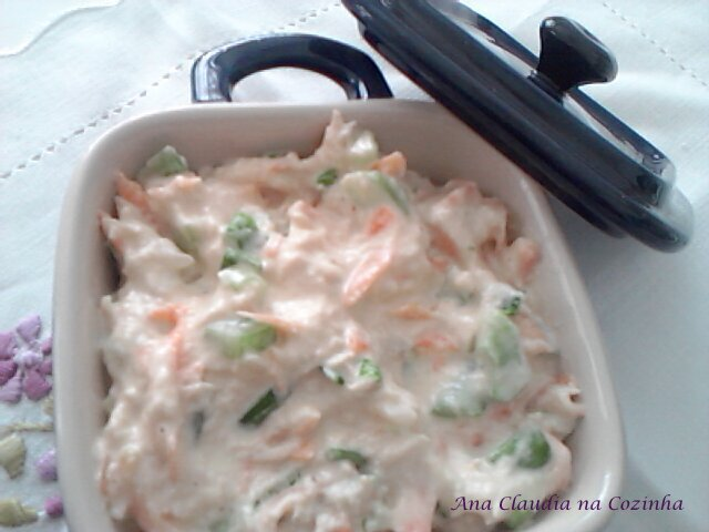 de salada de maionese para barquinha