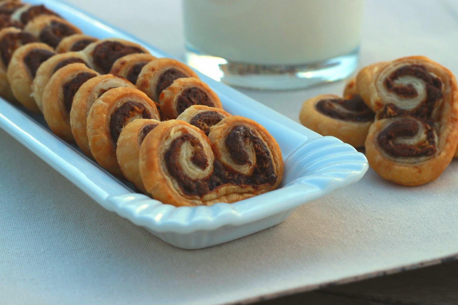 Palmeritas de Nutella y Coco
