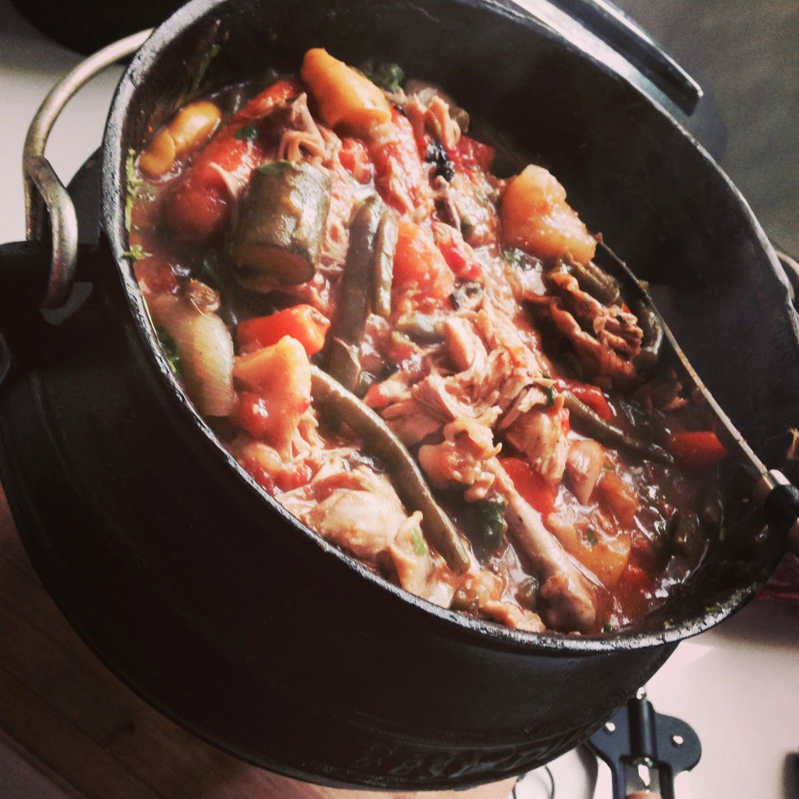 easy chicken potjie