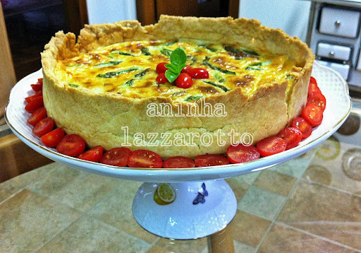 Quiche de Aspargos e Bacon