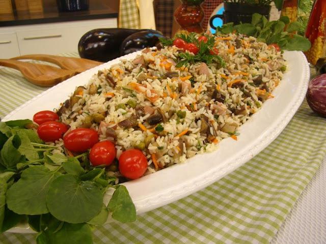 Salada de Arroz com Berinjela