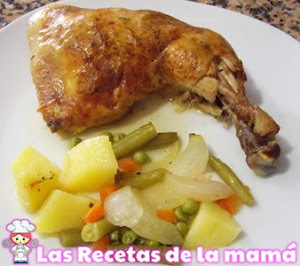 Receta de Pollo al horno con verduras