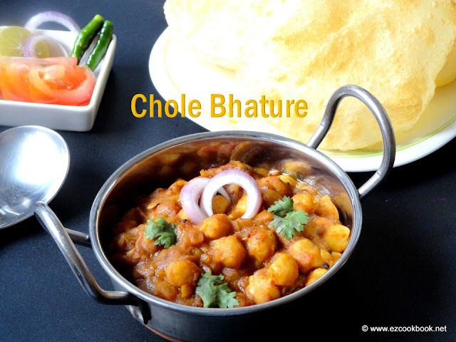 Chole Bhature Recipe - Ezcookbook