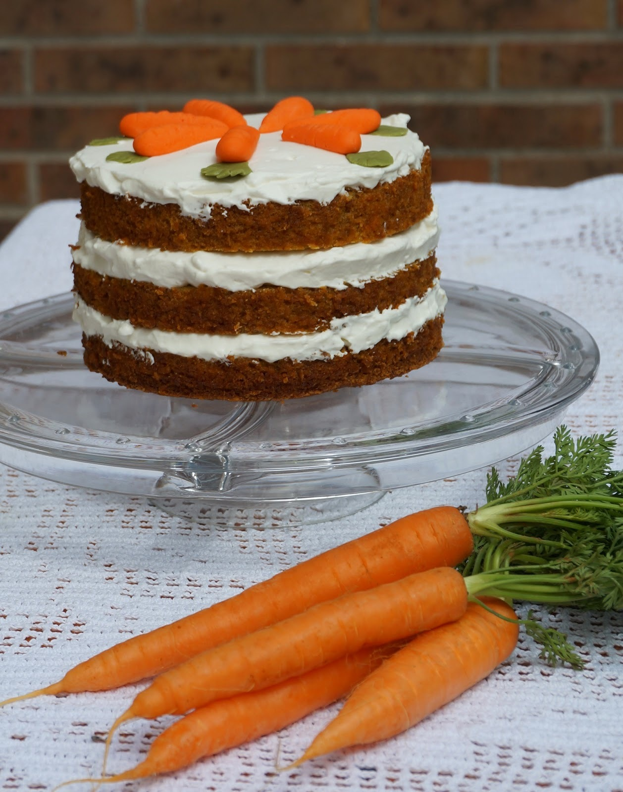 Carrot Naked Cake - Tarta humeda de zanahorias y piña
