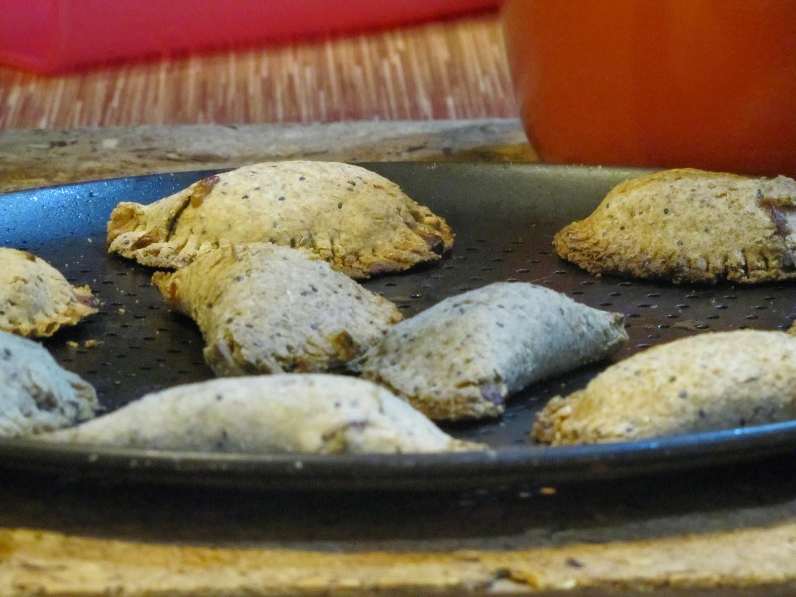 Pastel de forno com recheio de palmito e azeitona