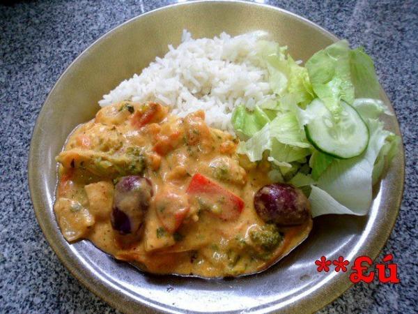 vatapá com legumes