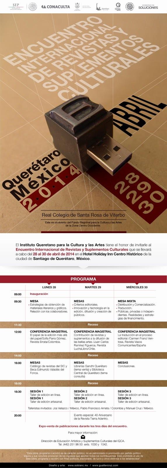 Encuentro Internacional de Revistas y Suplementos Culturales Querétaro 2014
