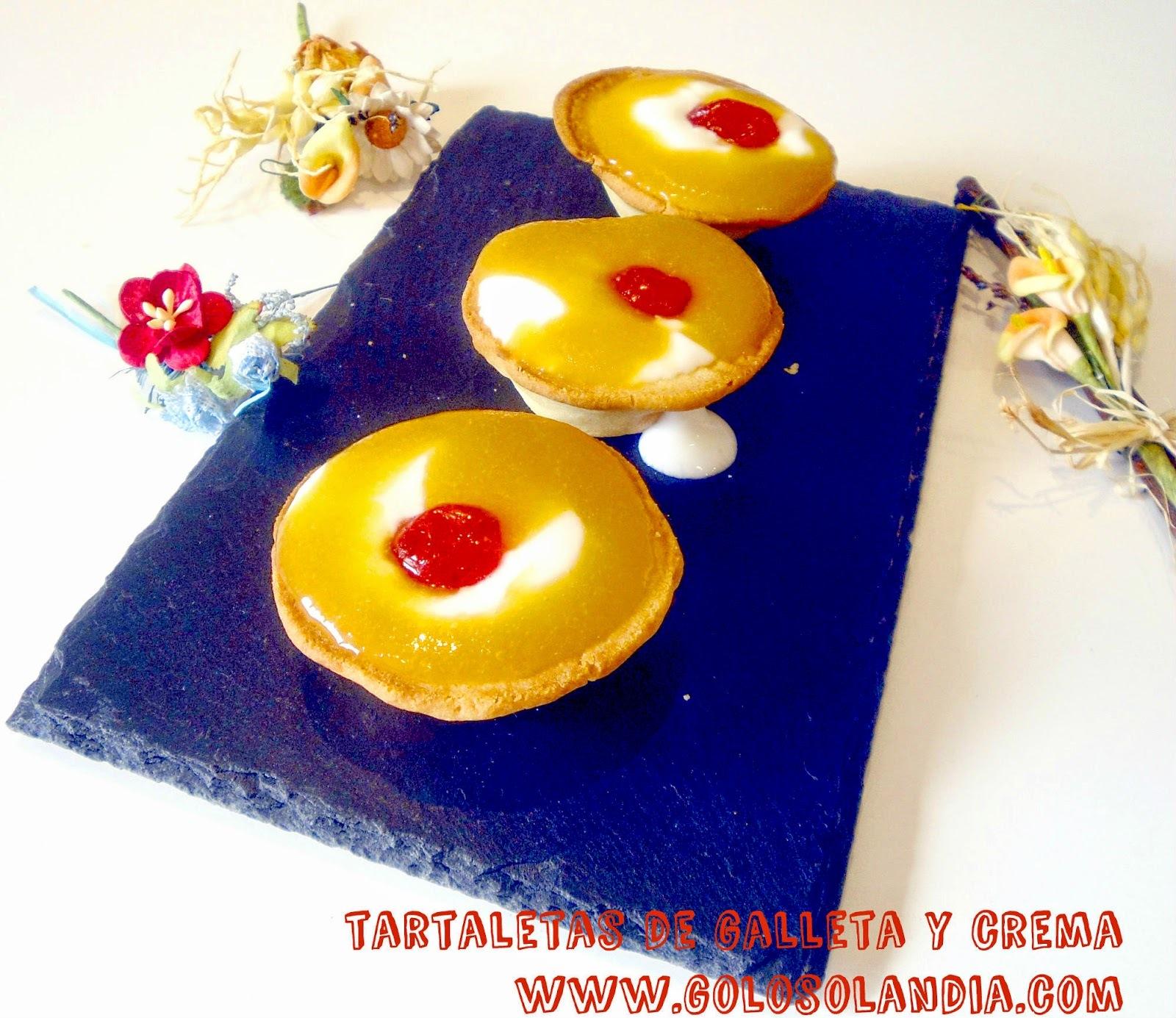 Tartaletas de galleta y crema
