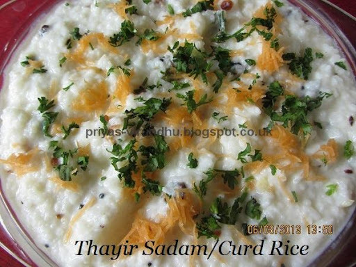 Thalichha Thayir Sadam/Curd Rice/Bagala Bath Recipe