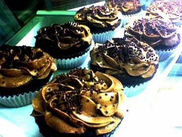 Cupcake de Chocolate com Creme amanteigado de Chocolate