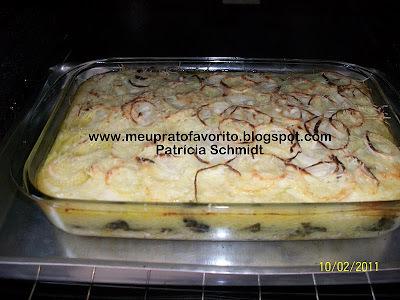 Bacalhau à Zé do Pipo com brócolis
