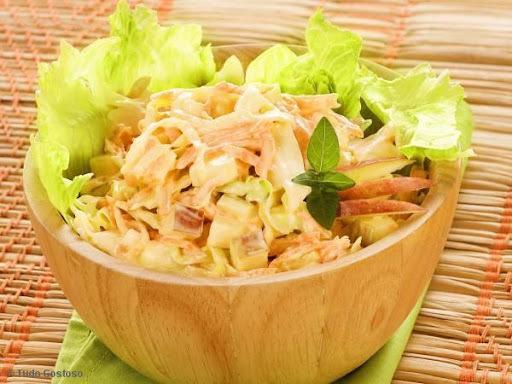 Salada de Maçã, Cenoura e Repolho