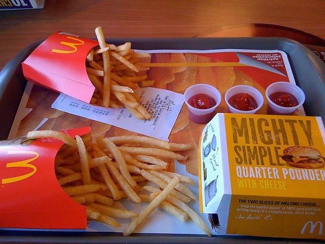 Ingredientes de las patatas fritas de McDonald's (II): comida basura