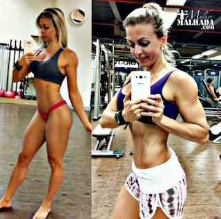 Treino de Quadríceps da Atleta Bikini Naiara Schubert