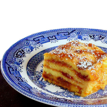 President's Day - Martha Washington's Cherry Bread and Butter Pudding