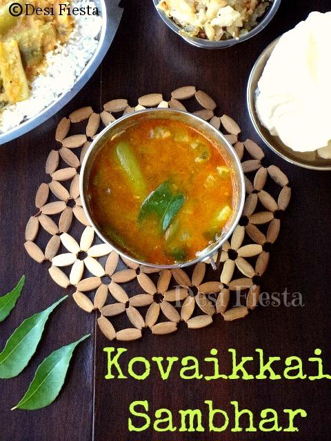 Kovaikka  Sambhar/ Tindora sambhar