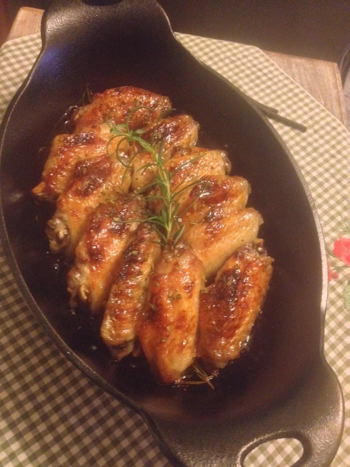 香草蜜糖烤雞翅 (附食譜)