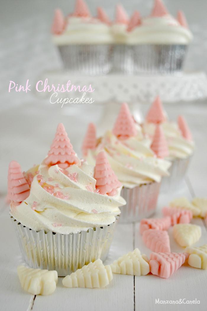 Pink Christmas: Angel Food Cupcakes con crema de nubes
