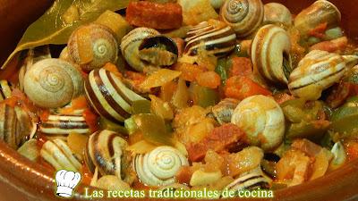 Receta de caracoles en salsa montañesa