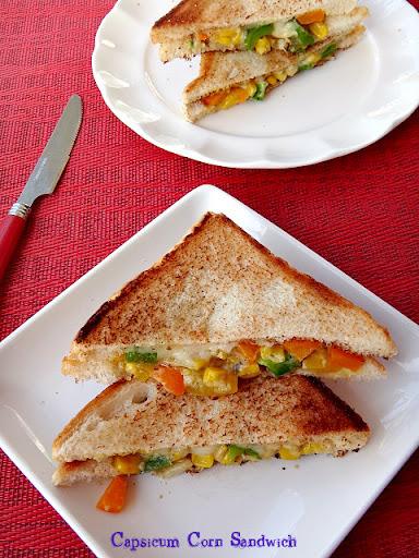 Capsicum Corn Sandwich