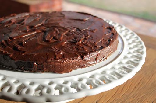Parabéns para Clarice com bolo da Julia Child