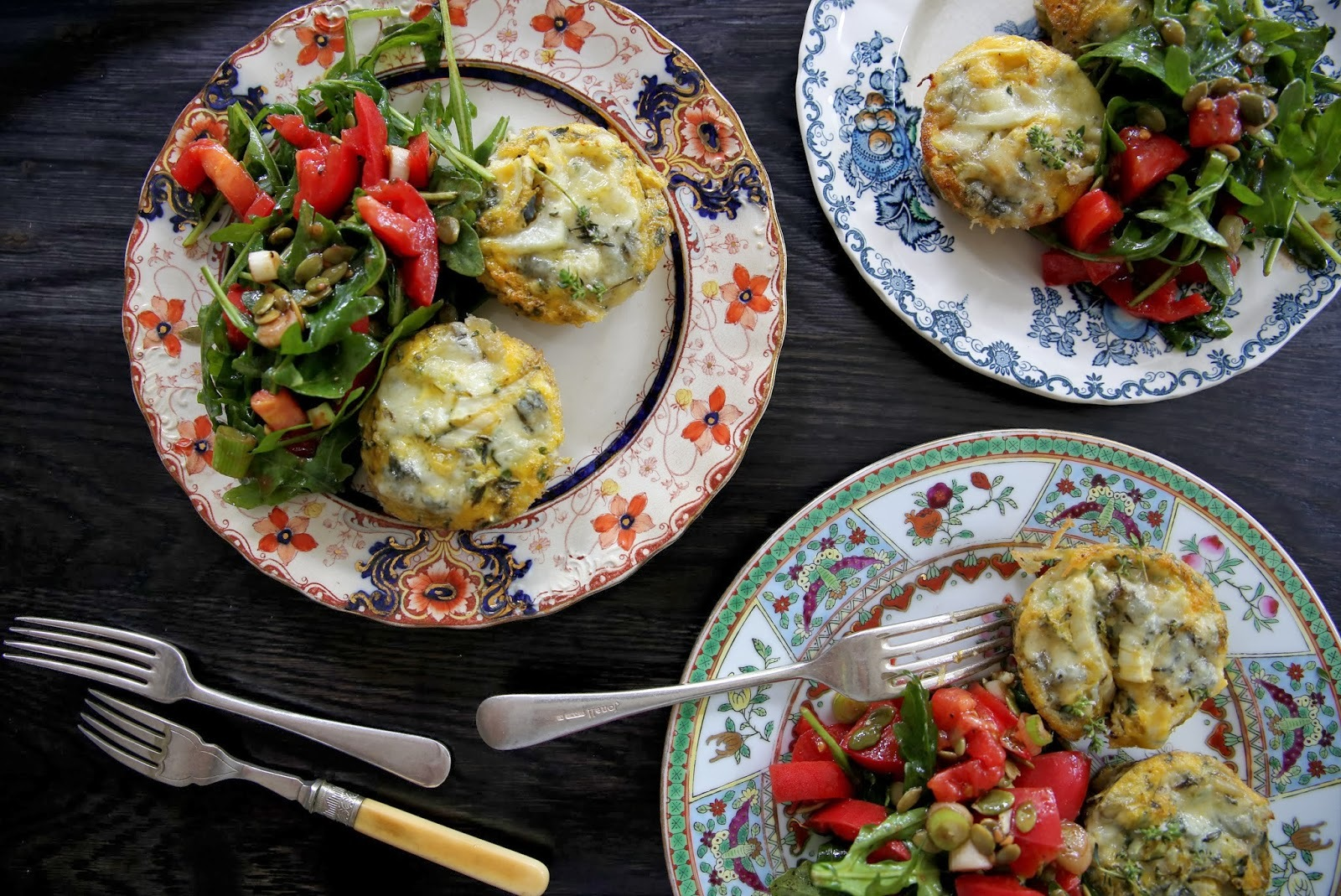 FENNEL & THYME MINI QUICHES WITH GORGONZOLA