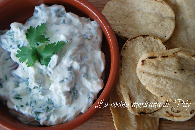 Jocoque preparado para botana a base de yogurt de búlgaros (kéfir)