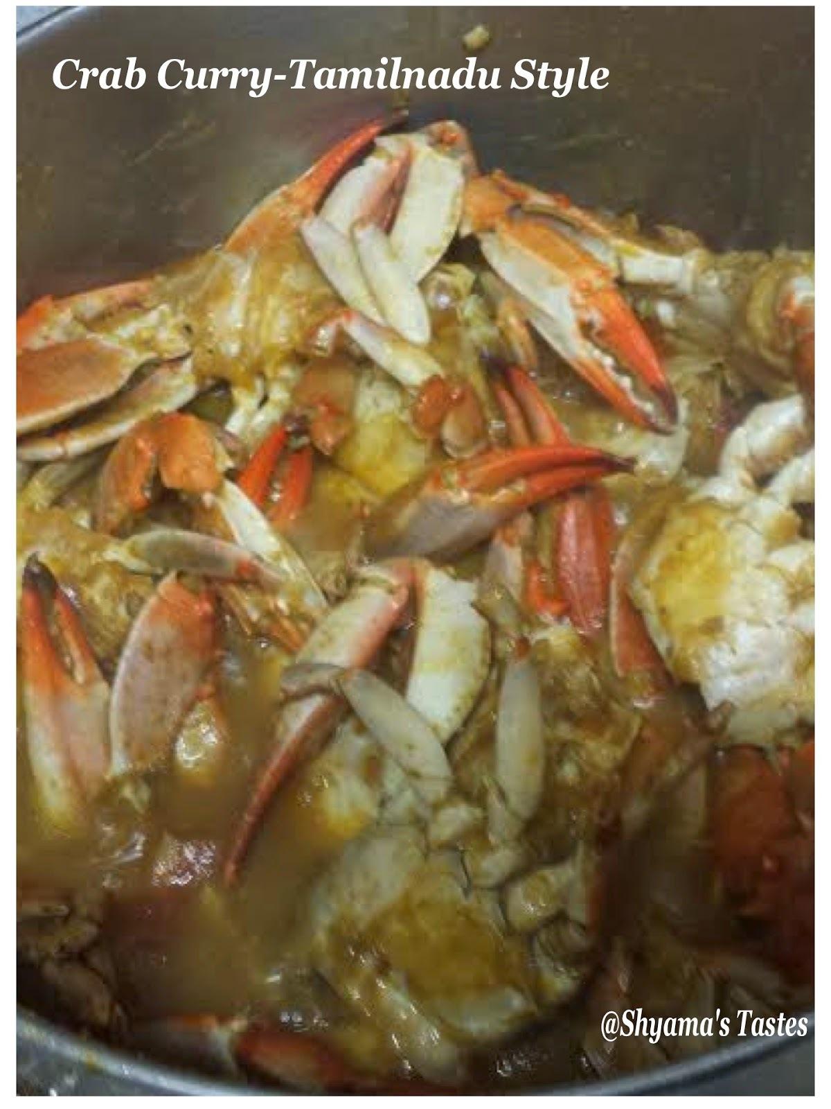 Crab Masala-Tamilnadu Style
