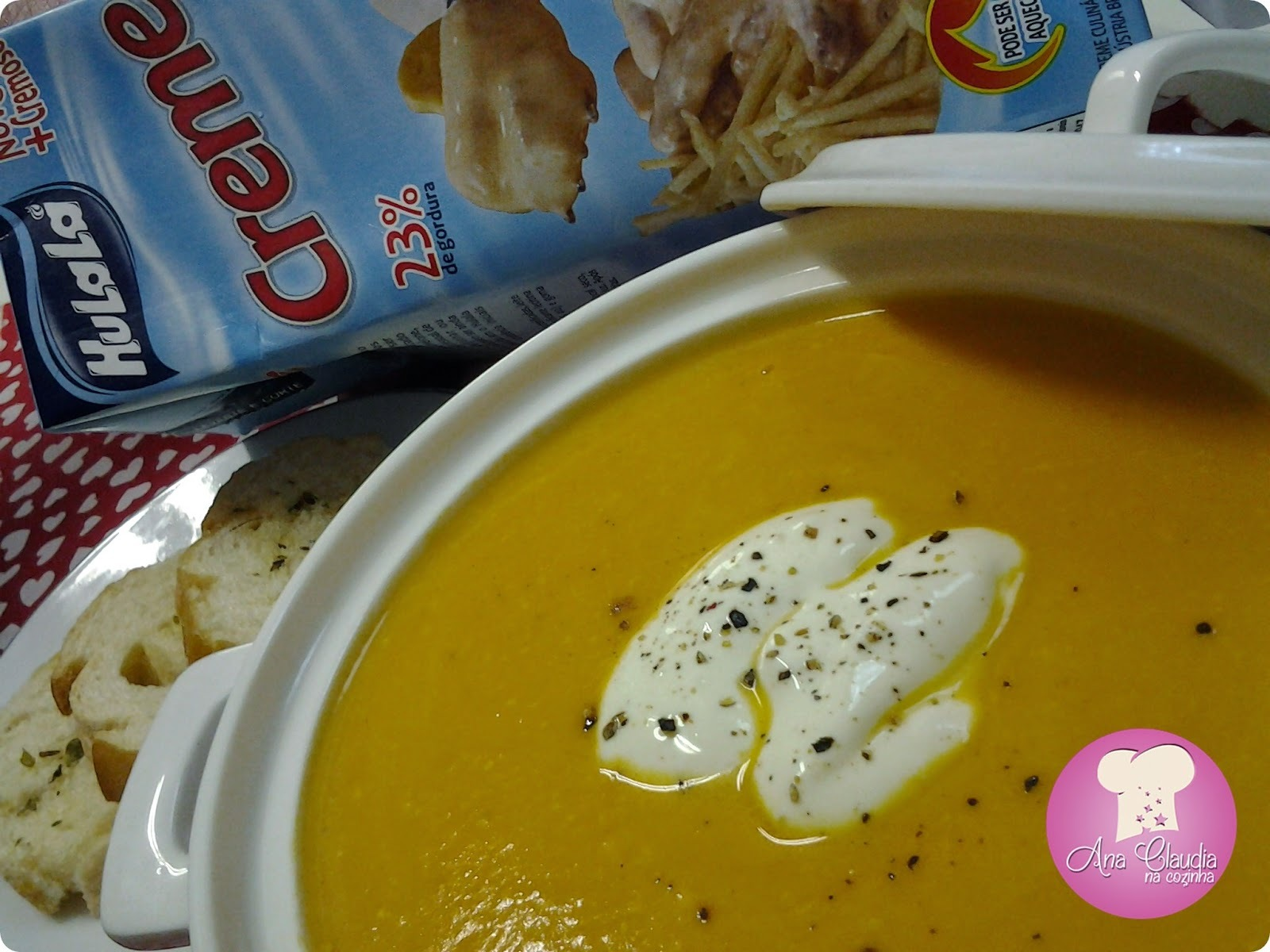 Sopa Creme de Cenoura com Gengibre