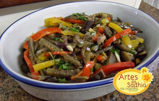 salada berinjela vinagrete