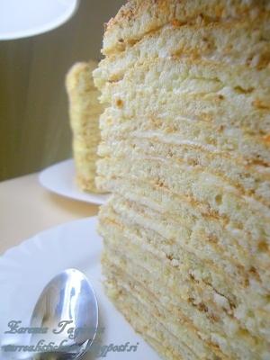 Торт «А-ля Наполеон» творожный