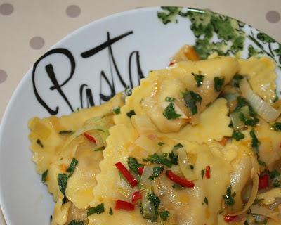 Ravioli with a Leek ,Chilli & Lemon Zest Butter - Dell'Ugo Recipe No.18