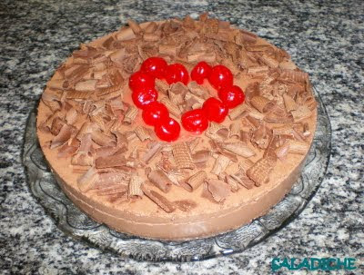 TORTA MUSSE DE CHOCOLATE RAPIDINHA