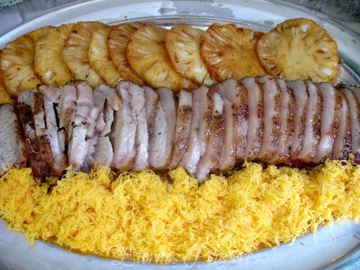 lombo de porco assado com molho de abacaxi