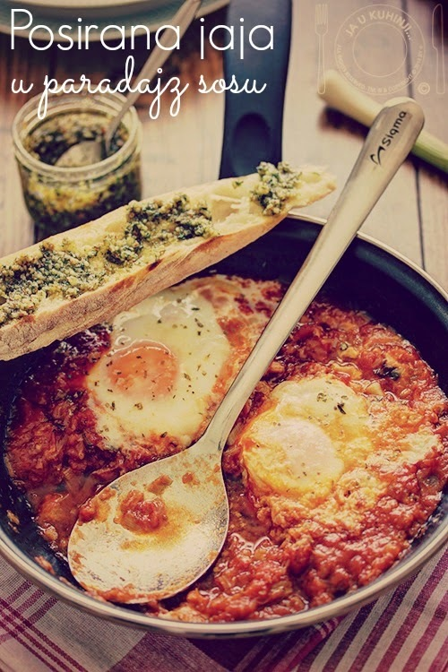 Poširana jaja u paradajz sosu