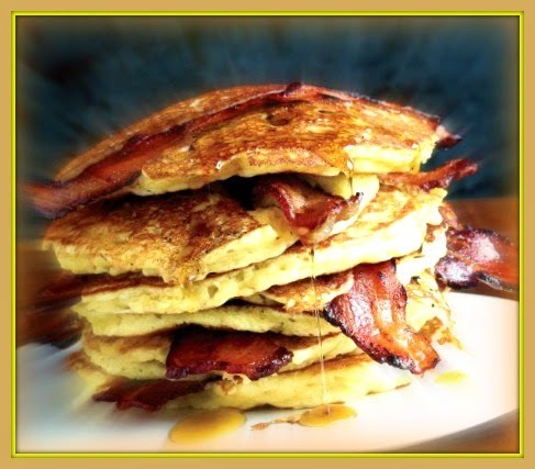 Panqueca americana com bacon