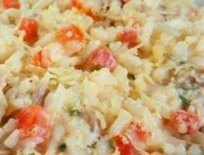 Receita de arroz cremoso com maionese