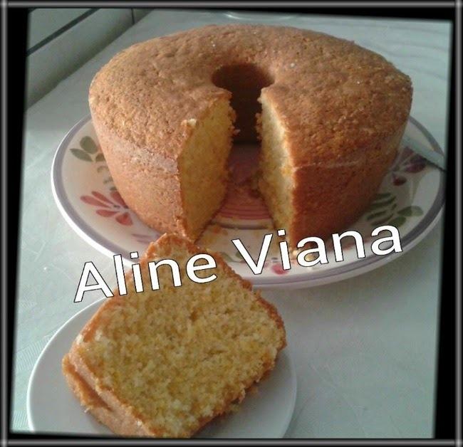 Bolo de fubá com trigo, de Aline Viana