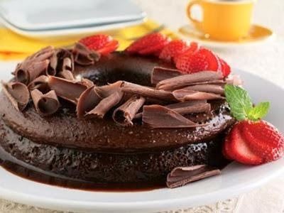 Bolo Pudim de Chocolate