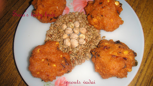 Sprouted horsegram and channa vadai
